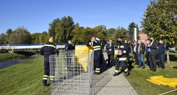 JVP Grada Požege prezentirala rad novog sustava za zaštitu od poplava