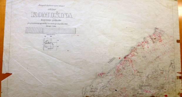 Završen postupak nove katastarske izmjere za katastarsku općinu Komušina
