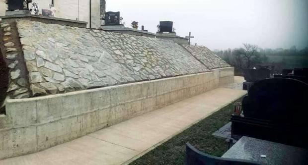 Sanacija klizišta na drenovačkom groblju
