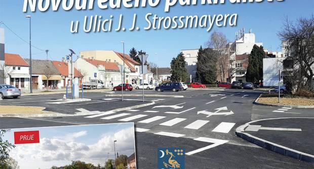 Novouređeno parkiralište u Ulici J. J. Strossmayera