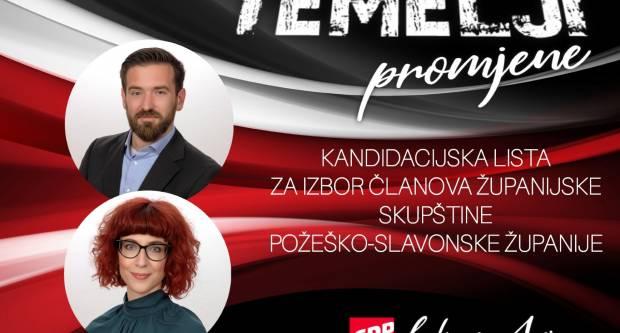 SDP Požega predstavio kandidacijsku listu za Županijsku skupštinu Požeško-slavonske županije