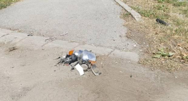 Prometna nesreća između teretnog automobila i motocikla u Industrijskoj ulici