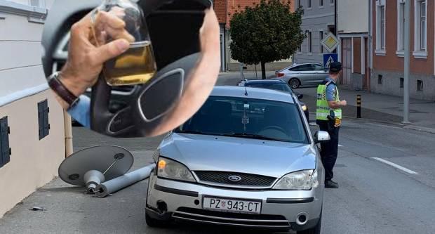 Vozač koji je danas udario u stup javne rasvjete imao 2,59 promila alkohola u organizmu