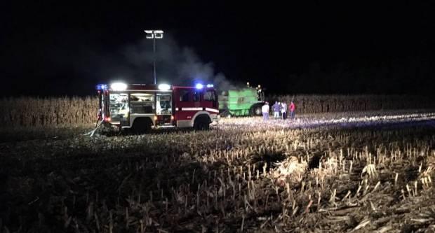 Jučer krađa, požar kombajna i prometna nesreća