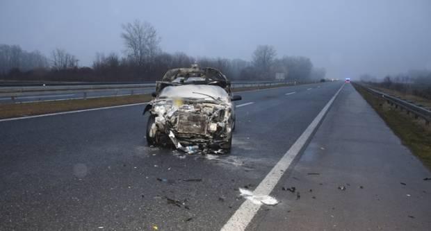 CRNO JUTRO NA PROMETNICAMA BPŽ: Do prometne nesreće došlo zbog ne držanja dovoljnog razmaka između dva vozila