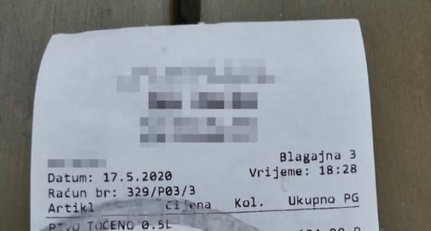 Račun iz kafića na Visu dokazuje jesu li cijene na Jadranu pale ili su ostale iste