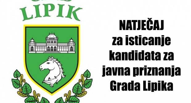 Raspisan Natječaj za isticanje kandidata za javna priznanja Grada Lipika