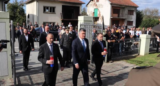 Predsjednik RH Zoran Milanović na komemoraciji poginulim braniteljima u Kusonjama