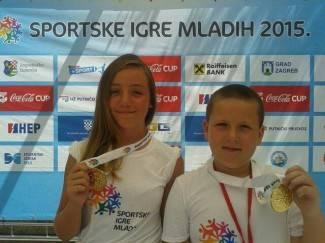 Nora Pisker i Erik Hajpek srebrni na međunarodnoj završnici igara mladih