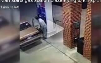 Ugledao pauka dok je točio benzin, uzeo upaljač da ga zapali i...Pogodite što se dogodilo (video)