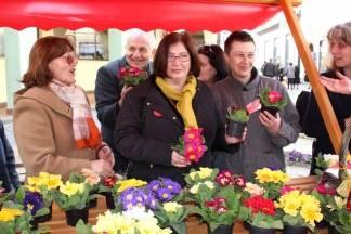Članice županijskog foruma SDP-a dijelile cvijeće prolaznicama