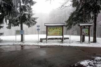 Snijeg zabijelio Psunj i izletište Omanovac kod Pakraca
