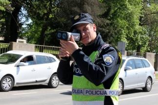 Policija će sutra nadzirati brzinu kretanja vozila