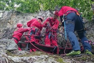Vježba: Požeški HGSS-ovci spašavali unesrećenog sa stijene