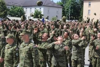 Prisega ročnika na dragovoljnom vojnom osposobjavanju Požega:25.6.2016.