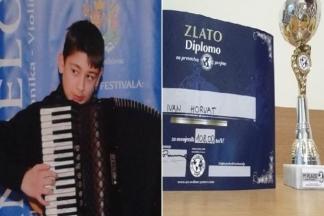 Ivan Horvat na svjetskom prvenstvu u Sloveniji svirajući harmoniku osvojio zlatnu medalju
