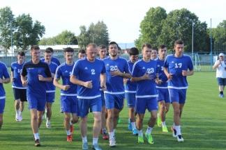 Prvi trening i prozivka igrača NK Slavonija:18.7.2016.