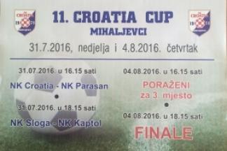 Danas finale 11. Croatia Cup-a i zabava na otvorenom