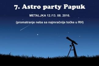 Danas svi na Papuk na 7. Astro party promatrati zvijezde padalice!