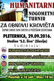Župljani Župne crkve Svih Svetih u požeškim Sesvetama organiziraju humanitarni nogometni turnir za obnovu krovišta crkve
