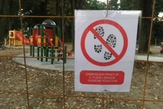 Igralište u parku zatvoreno za korištenje