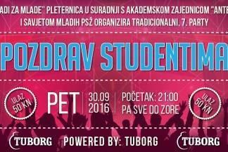 Pozdrav studentima u Pleternici
