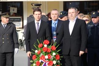 Polaganje vijenaca u prigodi Dana neovisnosti Republike Hrvatske:7.10.2016