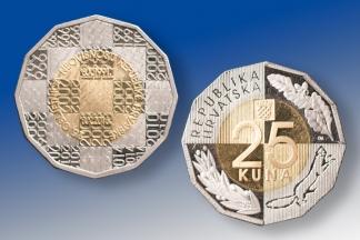 U povodu obilježavanja 25. obljetnice neovisnosti Republike Hrvatske izdana je nova kovanica od 25 kuna