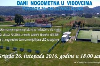 70. obljetnica NK ¨Dinamo¨ Vidovci-Dervišaga u srijedu