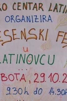 Dođite u subotu u Latinovac na ¨Jesenski fest¨