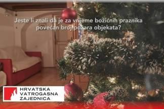 Oprezno s odlaganjem pepela i korištenjem božićnih dekoracija