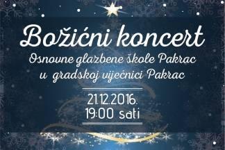 Božićni koncert u Pakracu, 21.12.2016.