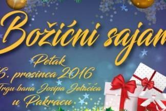 Božićni sajam 16.12. u Pakracu