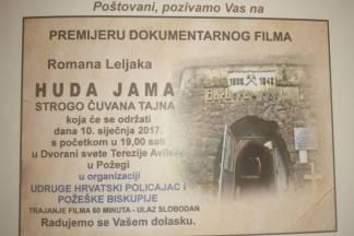 Premijera dokumentarnog filma ¨Huda jama- strogo čuvana tajna¨