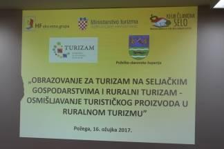 U HGK komori Požega održan seminar¨Osmišljavanje turističkog proizvoda u ruralnom turizmu¨
