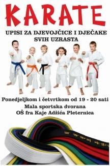 Karate-do klub Požega odnedavno održava treninge i u Pleternici