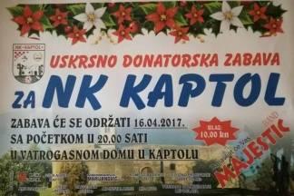 Uskrsno donatorska zabava za NK Kaptol