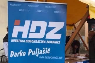 Prikupljanje potpisa za HDZ-ove kandidate Puljašića i Tomaševića