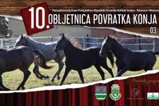 Ponuda izlagačima za sudjelovanje na manifestaciji ¨10. obljetnica povratka konja u Lipik¨