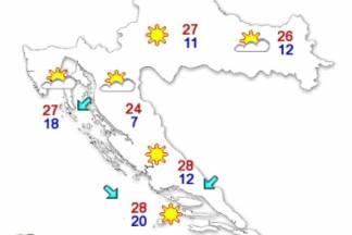 Temperature danas idu do 26 °C