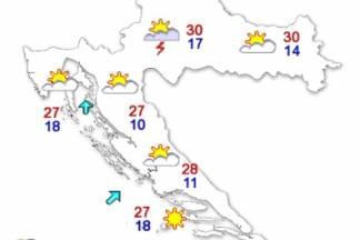 Temperature danas i do 30 °C