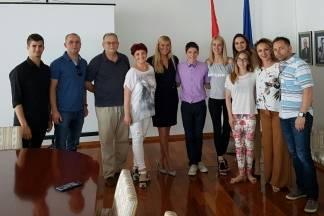 Požeški twirlingaši u posjetu Janici Kostelić
