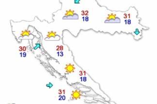 Temperature danas i do 31 °C