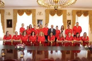 Gradonačelnik ugostio žensku košarkašku reprezentaciju Hrvatske