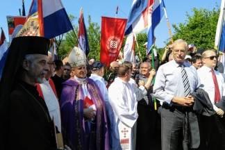 Hrvatski domobrani iz Požege na komemoraciji u Jazovki