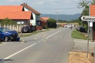 U prometnoj nesreći u Kunovcima sudjelovala tri automobila, više osoba ozlijeđeno