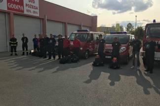 24 požeška vatrogasca otišla pomoći gasiti požare u Dalmaciji