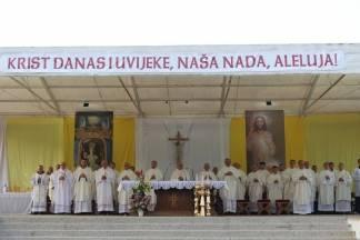 Euharistijsko slavlje u čast Nebeskoj Majci predvođeno biskupom Škvorčevićem