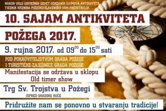 10. Sajam antikviteta u Požegi i Oldtimer show zajedno na požeškom trgu