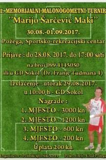 Osam ekipa već potvrdilo nastup na 2. Memorijalnom malonogometnom turniru ¨Marijo Šarčević - Maki¨, prijave traju još 4 dana